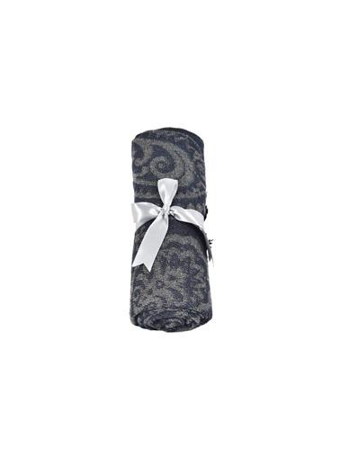 Dolce Bonita Home Wear Kadın Şal 90X170 Cm Otantik Maxi Lacivert